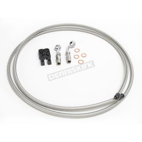 Designer Series BYO Braided Stainless Steel Single Disc 6 Ft Brake Line KIt with 10mm 180 Degree Banjo - 396100A