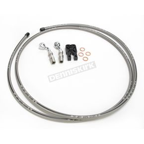 Designer Series BYO Braided Stainless Steel Single Disc Brake Line KIt with 6 Ft. Brake Line and 10mm 35 Degree Banjo - 396135A