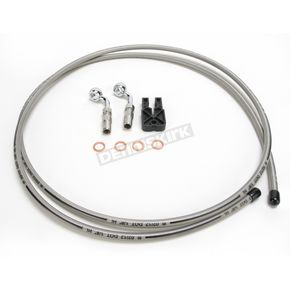 Magnum Custom Sterling Chromite II Designer Series BYO Braided Stainless Steel Single Disc Brake Line Kit with 6 Ft. Brake Line and 10mm 60 Degree Banjo - 396160A