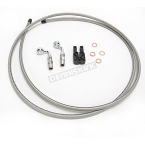 Designer Series BYO Braided Stainless Steel Single Disc Brake Line Kit with 6 Ft. Brake Line and 10mm 90 Degree Banjo - 396190A