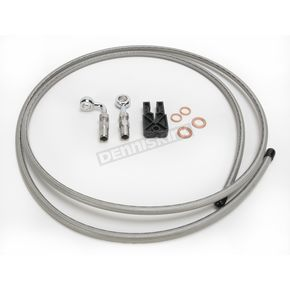 Designer Series BYO Braided Stainless Steel Single Disc 6 Ft Brake Line Kit with 7/16 Inch 180 Degree Banjo - 396700A