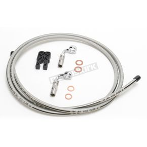 Designer Series BYO Braided Stainless Steel Single Disc 6 Ft Brake Line Kit with 7/16 Inch 90 Degree Banjo - 396790A