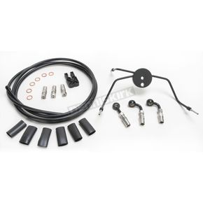 Magnum Black Pearl Designer Series Build Your Own Braided Dual Disc DOT Brake Line Kit with 7 foot Brake Line - 490900A