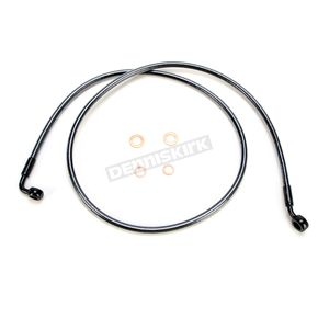 Magnum Black Pearl Designer Series 35 Degree Top Angle Custom Single-Disc Front Brake Line - 46148SW