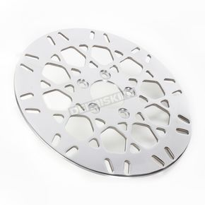Drag Specialties Rear 11.5 in. Mesh Polished Stainless Steel Brake Rotor - 17102026