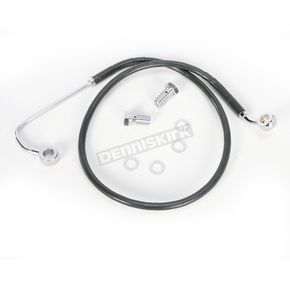 Drag Specialties Front Extended Length ABS Black Vinyl Brake Line Kit +6 in. - 1741-3770