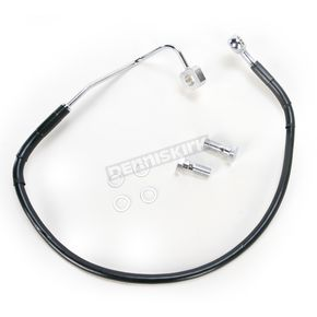 Drag Specialties Rear Standard Length ABS Black Vinyl Brake Line Kit - 1741-3784