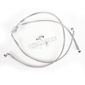 Drag Specialties Front Extended Length ABS Stainless Steel Brake Line Kit +10 in. - 1741-3831