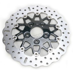 EBC Rear Narrow Band Stainless Steel Custom Rotor w/Black Chrome Rotor Carrier - 10 Button Floating Contour - RSD014CBLK