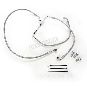 Drag Specialties Front Extended Length Stainless Steel Braided Brake Line Kit +4 in. - 1741-3977