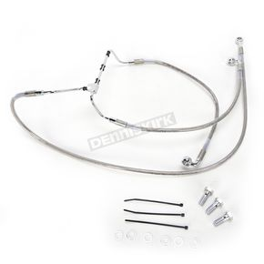 Drag Specialties Front Extended Length Stainless Steel Braided Brake Line Kit +8 in. - 1741-3981