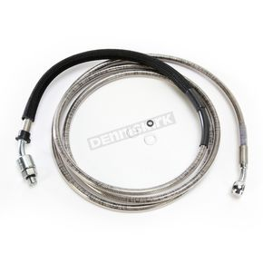 Drag Specialties Extended Length Stainless Steel Braided Clutch Line +12 in. - 0661-0009