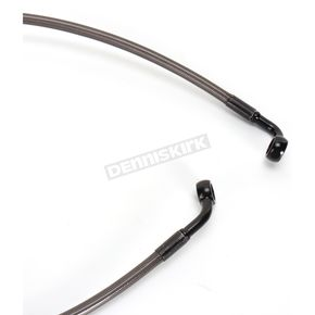 LA Choppers Midnight Stainless Brake Line for Use w/18 in. to 20 in. Ape Hangers - LA-8130B19M