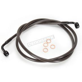 LA Choppers Midnight Stainless Brake Line for Use w/Mini Ape Hangers (Single Disc) - LA-8310B08M