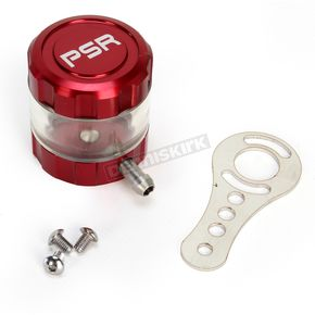 Powerstands Racing Red/Clear Front Brake Reservoir - 03-01805-24