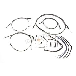 Magnum Black Pearl Designer Series Handlebar Installation Kit for use w/12 in.-14 in. Ape Hanger Handlebars w/ABS - 487641