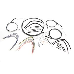 Magnum Black Pearl Designer Series Handlebar Installation Kit for use w/10 in.-12 in. Ape Hangers (Non-ABS) - 487652