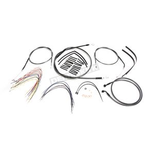 Magnum Black Pearl Designer Series Handlebar Installation Kit for use w/14 in.-16 in. Ape Hangers (Non-ABS) - 487653