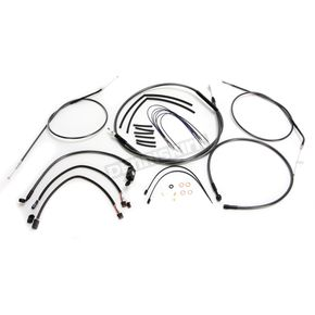Magnum Black Pearl Designer Series Handlebar Installation Kit for use w/10 in.-12 in. Ape Hangers w/ABS - 487672