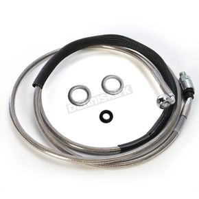 Drag Specialties Stainless Steel Hydraulic Clutch Line +10 in. - 0661-0017
