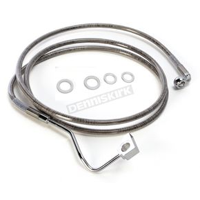 Drag Specialties Stainless Steel ABS Extended Length Dual Disc Front Upper Brake Line +10 in. - 1741-4502