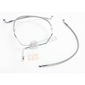 Magnum Natural XR Stainless Extreme Response Front Brake Line Kit - Non ABS Stock Length - SSC1304-19