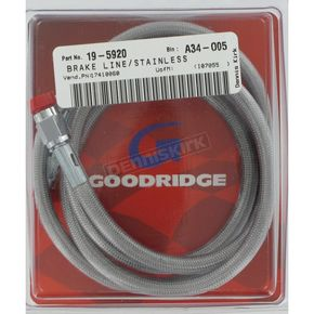 Goodridge Stainless Universal Brake Line w/Chrome-Plated Ends  - 80346