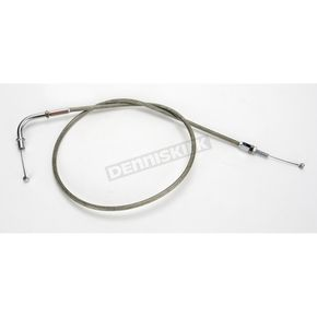 Motion Pro 42 in. Armor Coat Braided Stainless Steel Push Throttle Cable - 64-0223