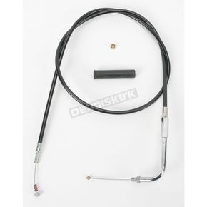 Drag Specialties Alternative Length Black Vinyl Idle Cable for Custom Height/Width Handlebars - 0651-0162