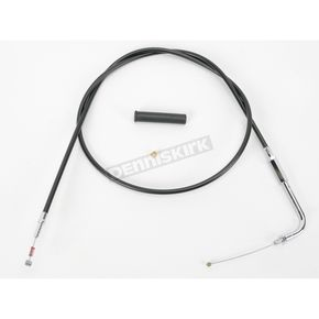 Drag Specialties Alternative Length Black Vinyl Idle Cable for Custom Height/Width Handlebars - 0651-0164