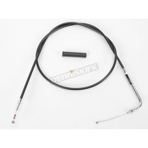 Drag Specialties Alternative Length Black Vinyl Idle Cable for Custom Height/Width Handlebars - 0651-0166