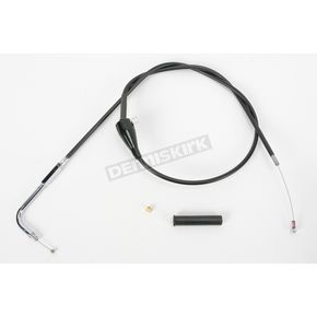 Drag Specialties Black Vinyl Cruise Idle Cable - 0651-0181