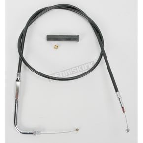 Drag Specialties Alternative Length Black Vinyl Idle Cable for Custom Height/Width Handlebars - 0651-0232