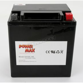 Power Max Maintenance Free Battery - GIX30L-BS