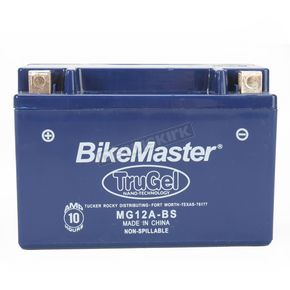 Bikemaster TruGel 12-Volt Battery - MG12A-BS