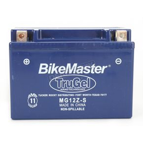 BikeMaster TruGel 12-Volt Battery - MG12Z-S