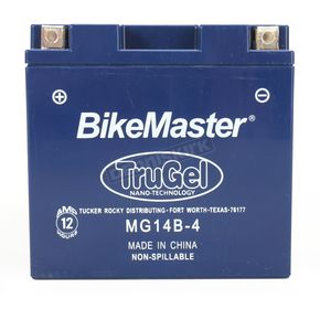 Bikemaster TruGel 12-Volt Battery - MG14B-4