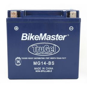 BikeMaster TruGel 12-Volt Battery - MG14-BS