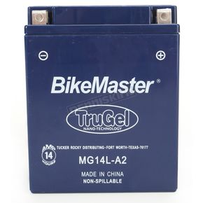 Bikemaster TruGel 12-Volt Battery - MG14L-A2