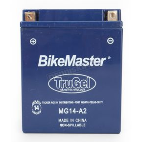 Bikemaster TruGel 12-Volt Battery - MG14-A2