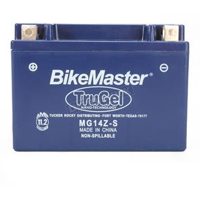 BikeMaster TruGel 12-Volt Battery - MG14Z-S
