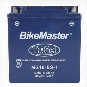 BikeMaster TruGel 12-Volt Battery - MG16-BS-1
