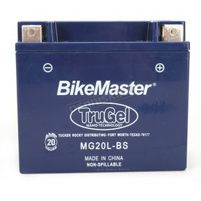 Bikemaster TruGel 12-Volt Battery - MG20L-BS