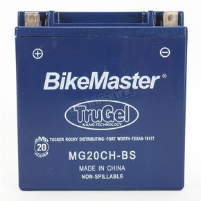 BikeMaster TruGel 12-Volt Battery - MG20CH-BS