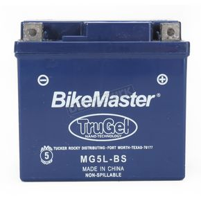 BikeMaster TruGel 12-Volt Battery - MG5L-BS