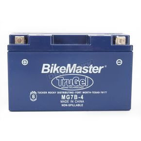 BikeMaster TruGel 12-Volt Battery - MG7B-4