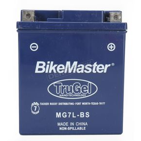 BikeMaster TruGel 12-Volt Battery - MG7L-BS