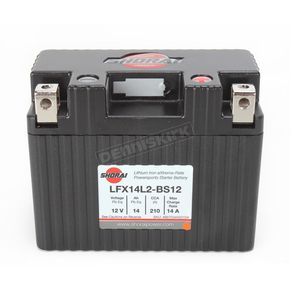 Shorai Xtreme-Rate 12-Volt LifePo4 LFX Lithium Battery - LFX14L2-BS12