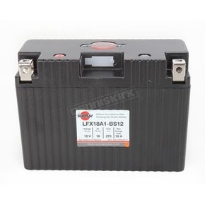 Shorai Xtreme-Rate 12-Volt LifePo4 LFX Lithium Battery - LFX18A1-BS12