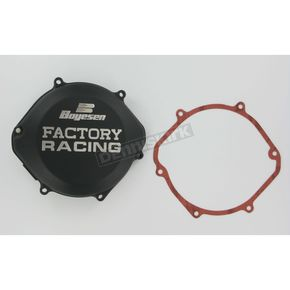 Factory Racing Black Clutch Cover - CC-02B